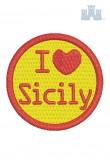 321 Ricamo 10 I love Sicily